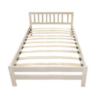Кровать Массив 1200 (выбеленная береза)