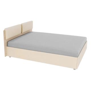 """Кровать с подъёмным механизмом """"Мелисса Люкс"""" 1600 (шимо светлый, Ambrossia, Borneo milk)"""