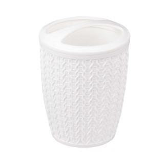 """Подставка для зубных щеток """"Вязаное плетение"""" (белый)"""