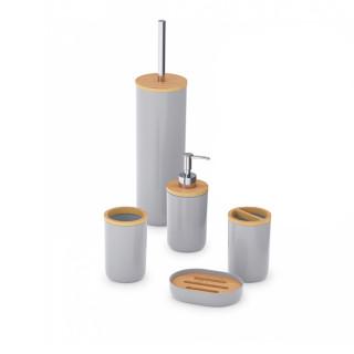 "Набор аксессуаров для ванной комнаты ""Бамбук"" (серый) М8169"