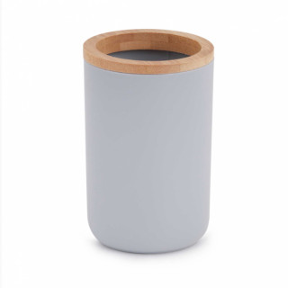 """Стакан для зубных щеток """"Бамбук"""" (серый) М8054"""