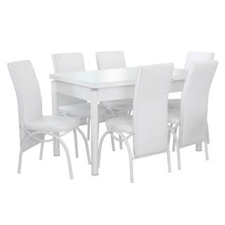 "Столовый комплект ""1+6"" Basari WHITE"